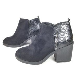 Rouge Helium Heeled Ankle Boots Black size 8.5